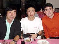 カトマンズにて三浦雄一郎氏と7大陸最年少世界最高峰記録を目指す石川君と会った