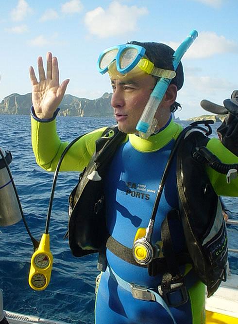 小笠原での初ダイビング