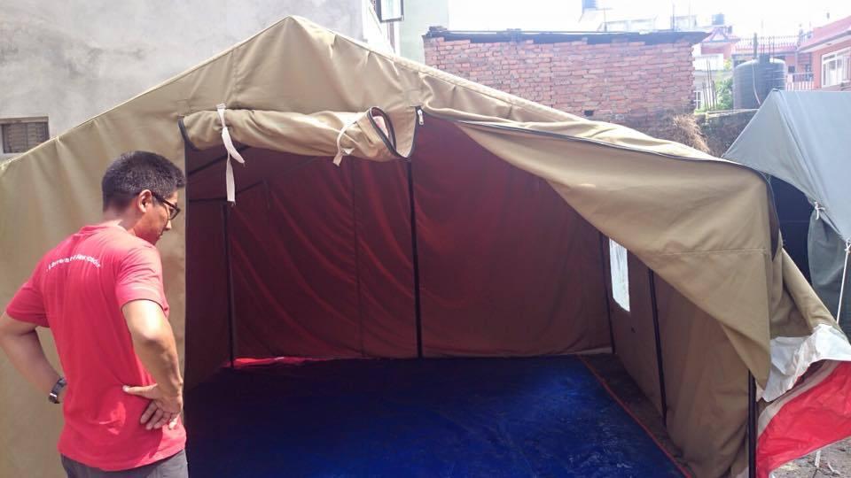 一日も早く大型テントを現地へ~ヒマラヤ大震災~