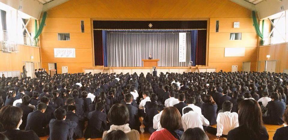 岡山県城東高等学校にて講演会