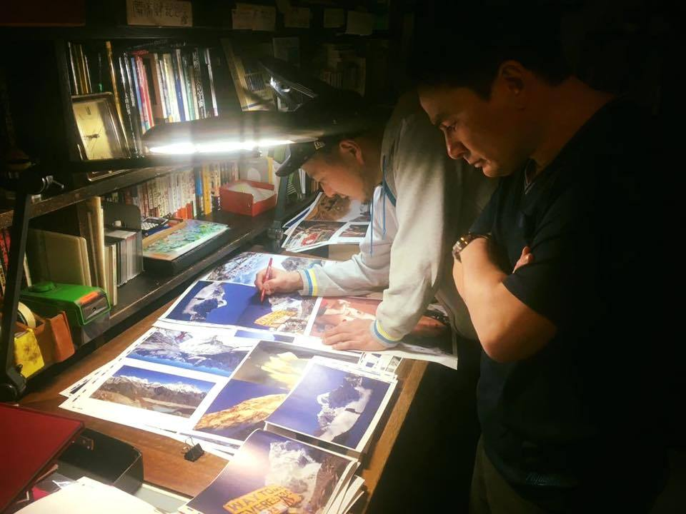 三村漢さんのお宅にて作業