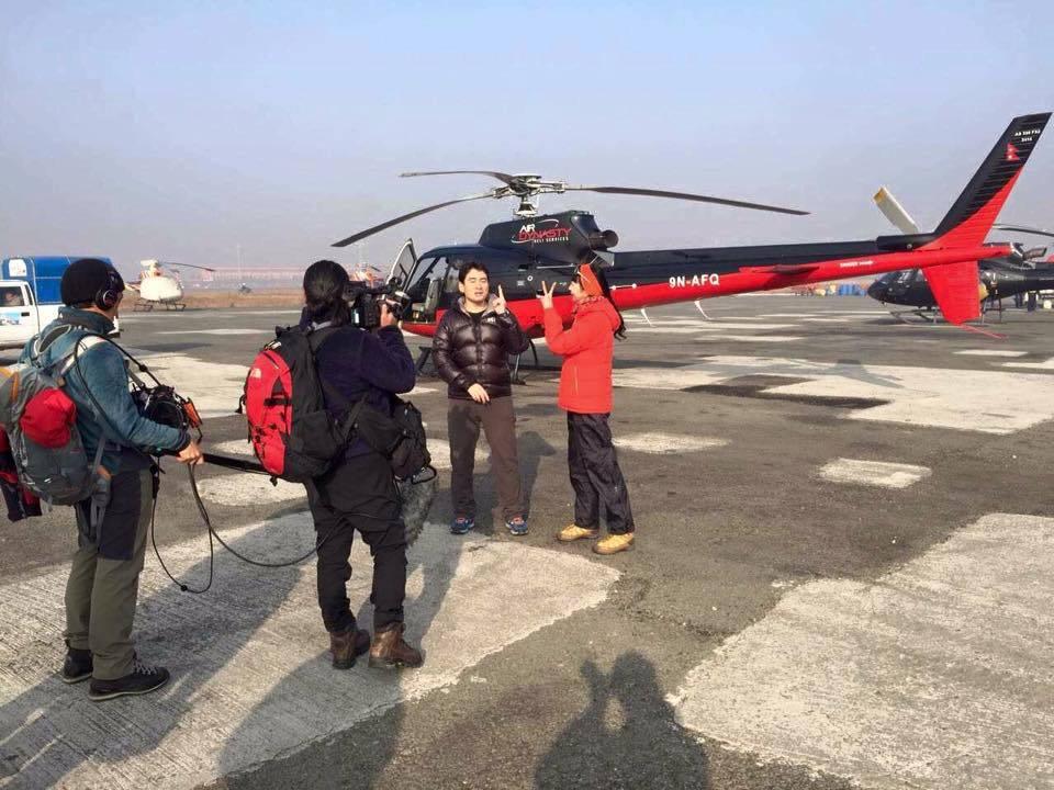 ネパールでテレビロケ