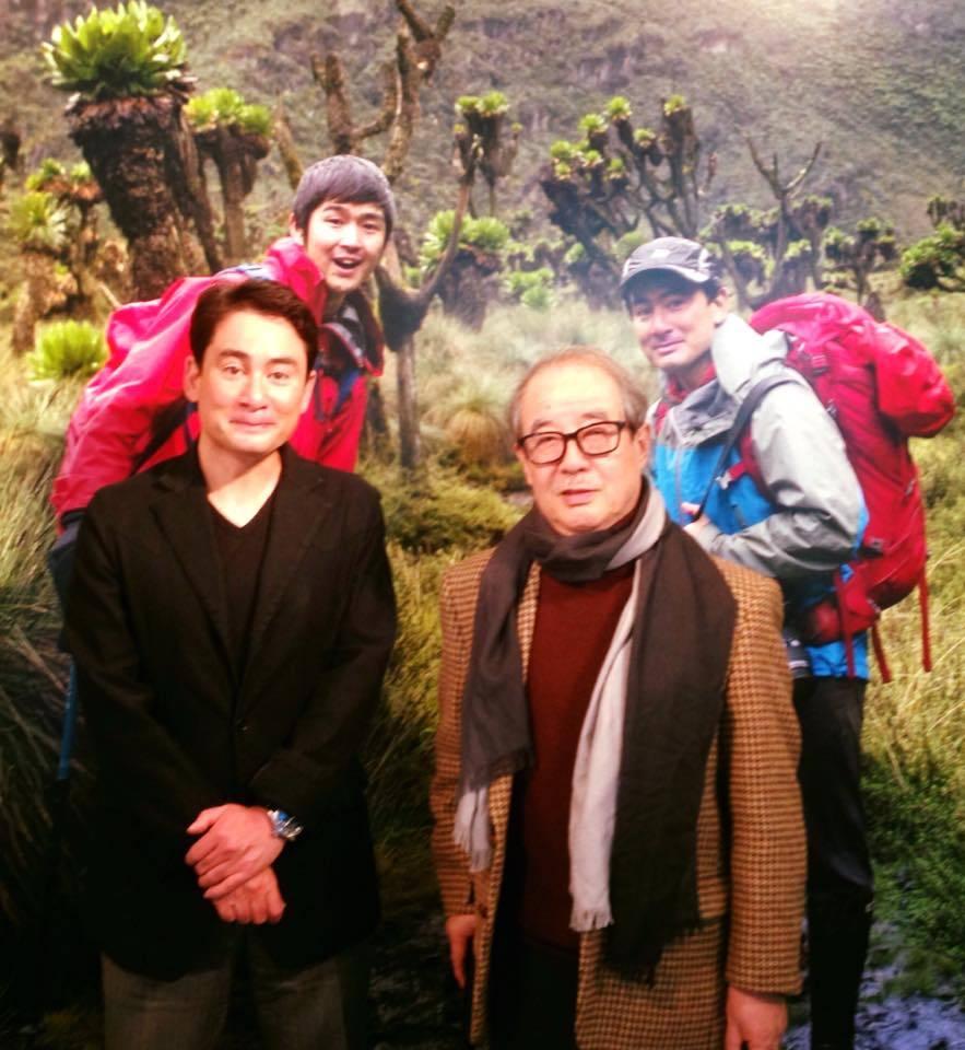 京都の親父殿が写真展に来た
