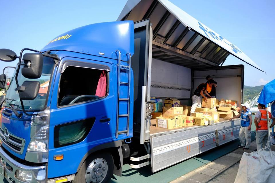 熊本地震支援、たくさんの支援物資、ありがとうございます。