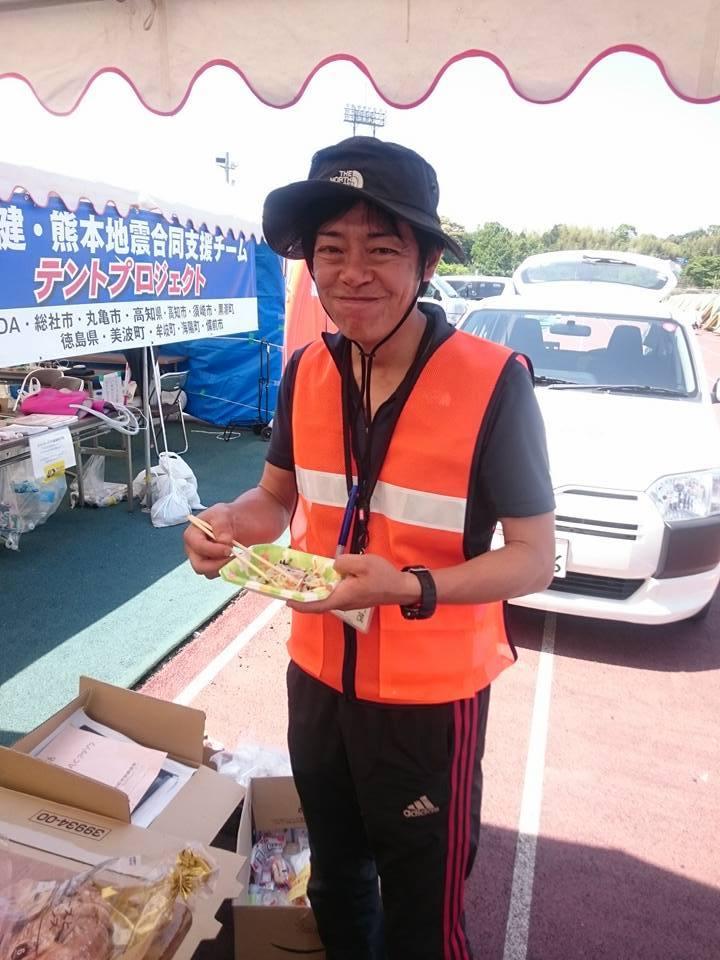 熊本地震支援、総社市チームの仲間たち
