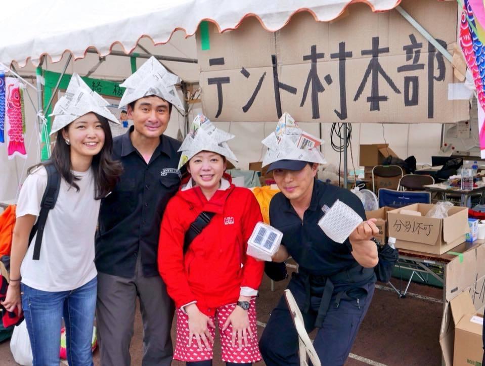 熊本地震支援、テント村に笑顔が増えました。