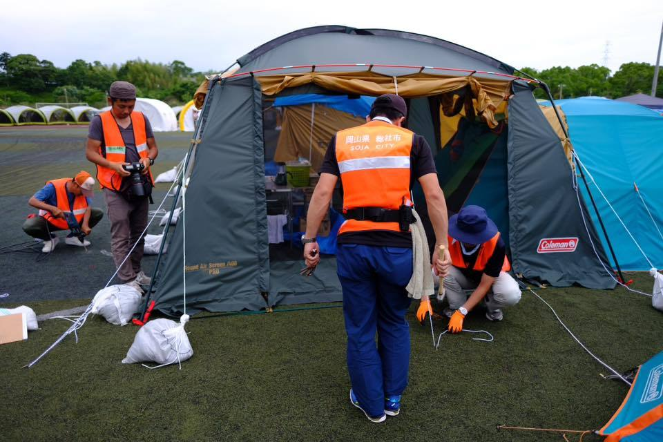 熊本地震支援、テント村を支えるスタッフたち