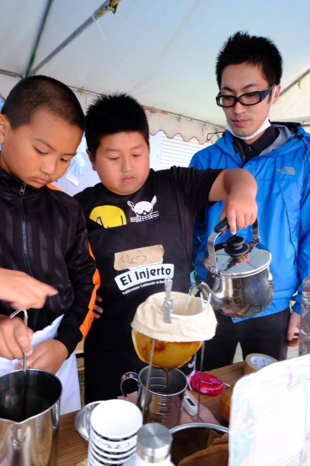 熊本地震支援、子ども達のコーヒーショップ