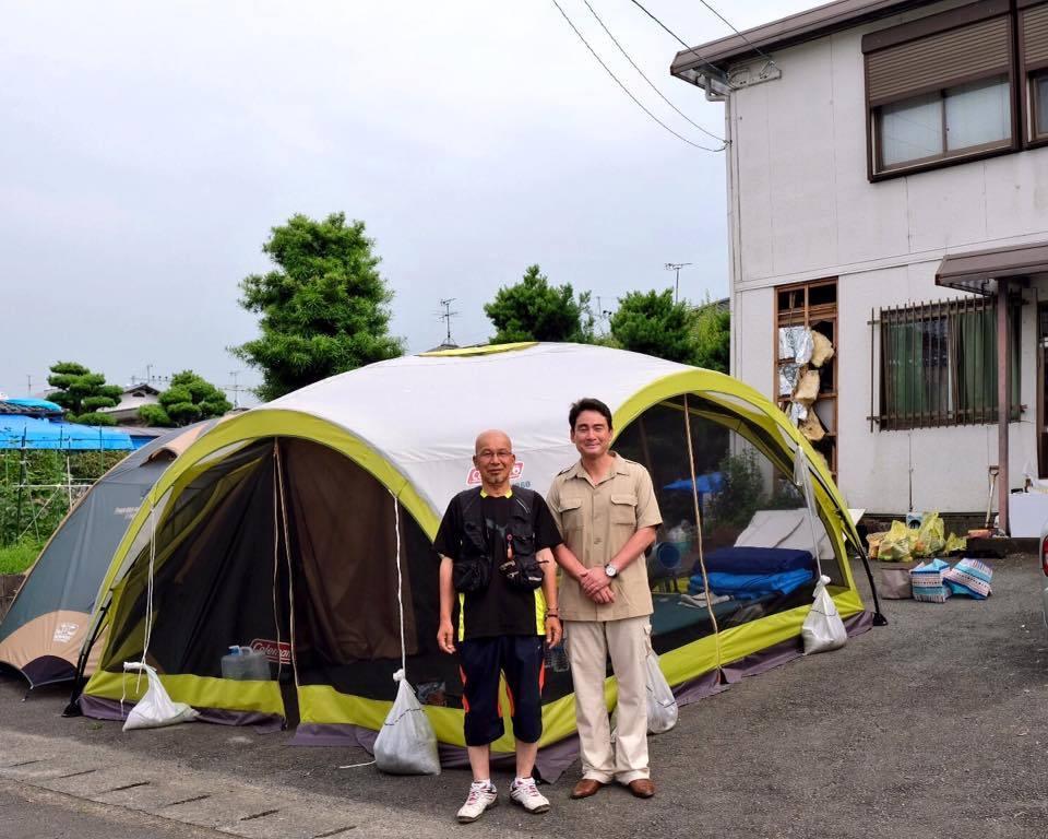 熊本地震支援、テント、2次活用されています!!