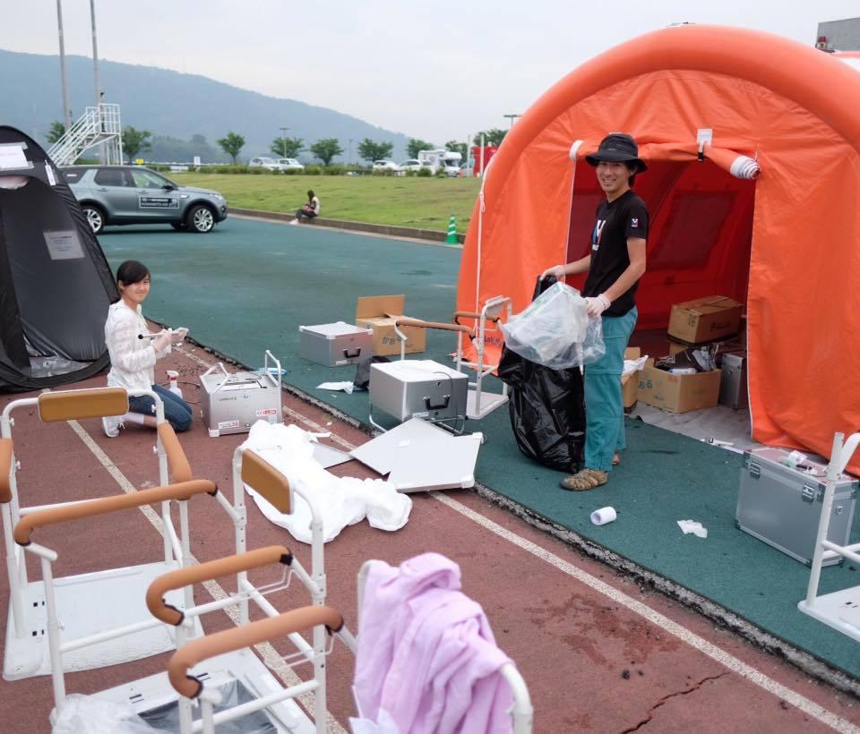 熊本地震支援、テント村撤収。