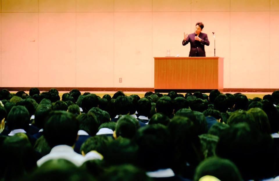 千葉県立流山南高等学校にて講演会