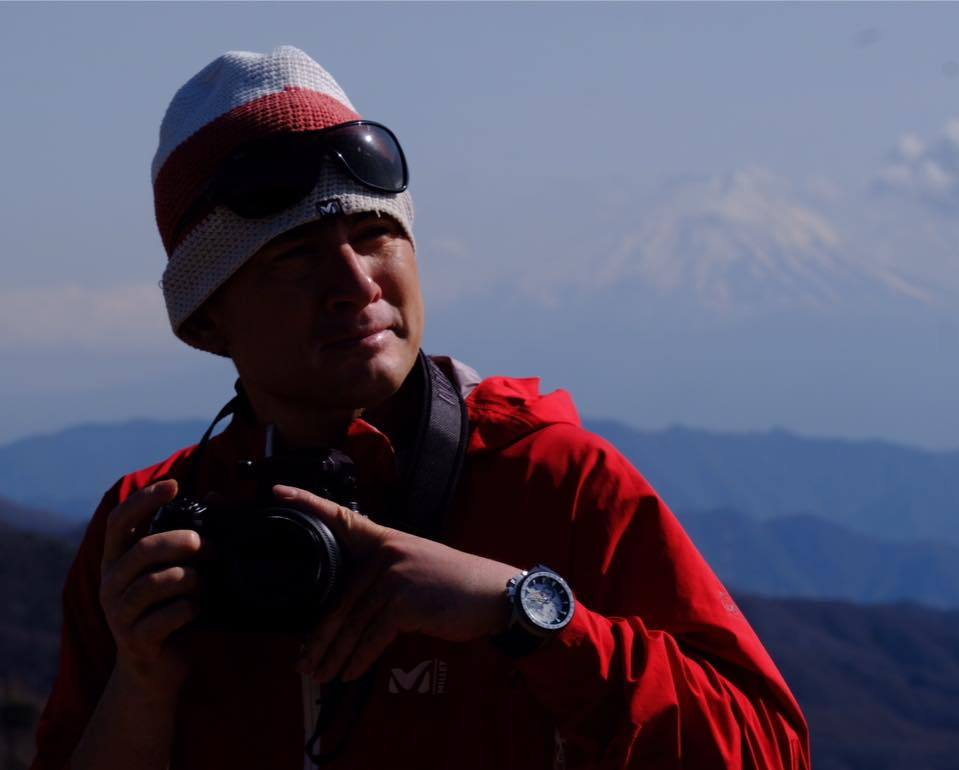 平賀カメラマンと登山