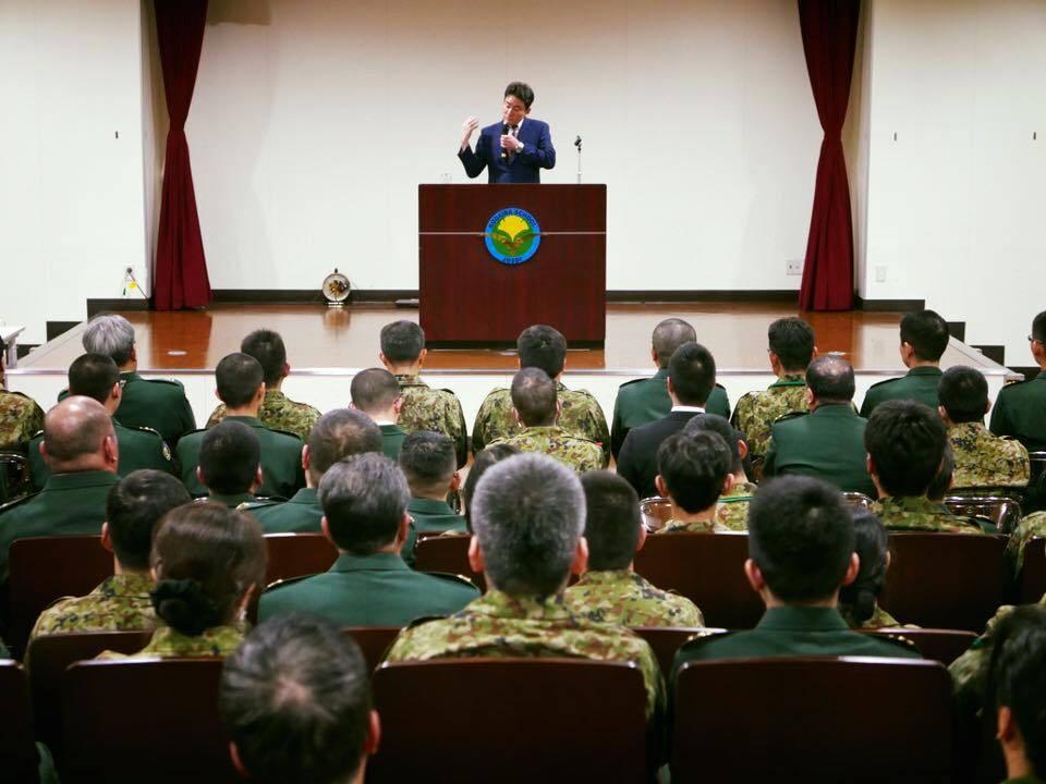 自衛隊小平学校で講演