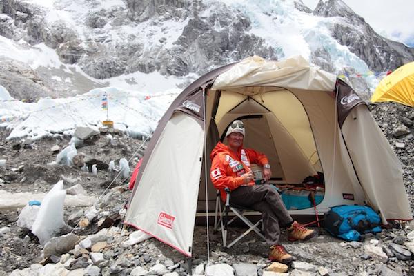 エベレストBCで使用したコールマンのテント