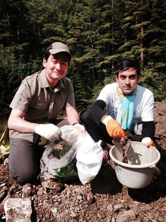 野口健とウパカル、富士山清掃で初めて会うことができた