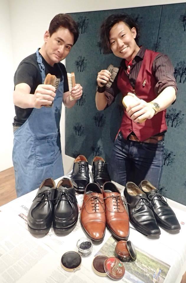 靴磨きイベントに参加