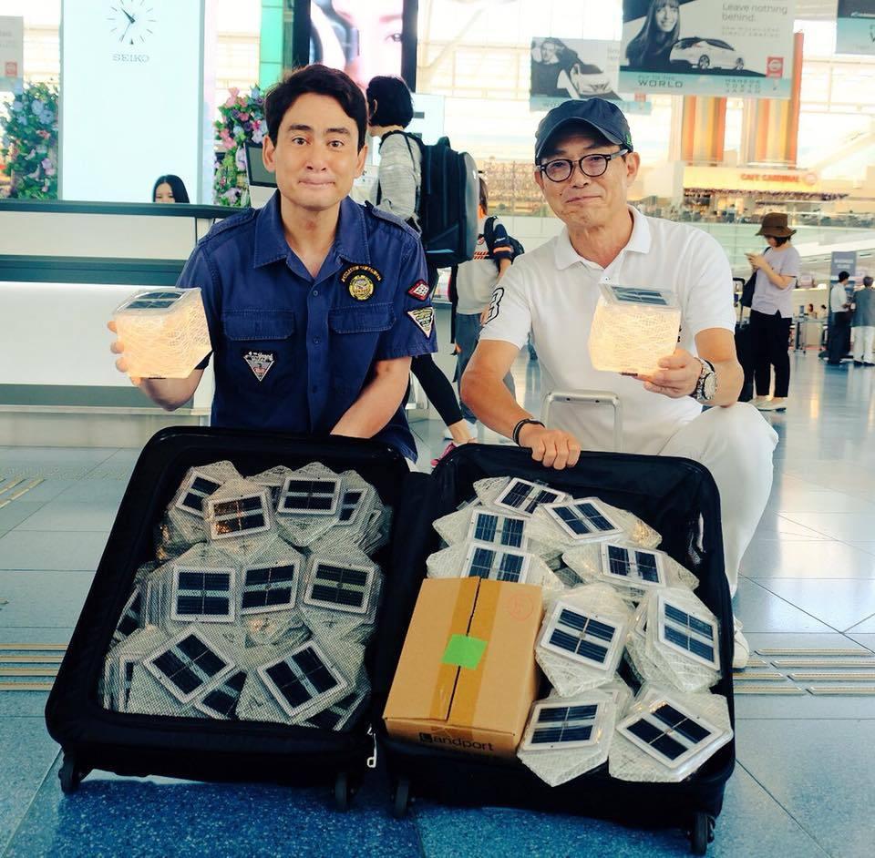 北海道地震支援 ソーラーパフ