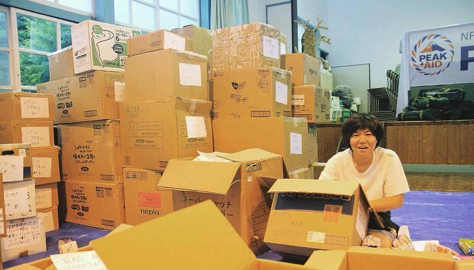 北海道地震支援 救援物資仕分け作業