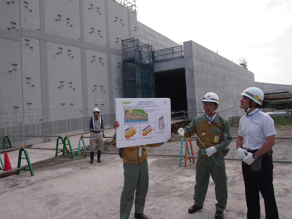 浜岡原子力発電所の視察