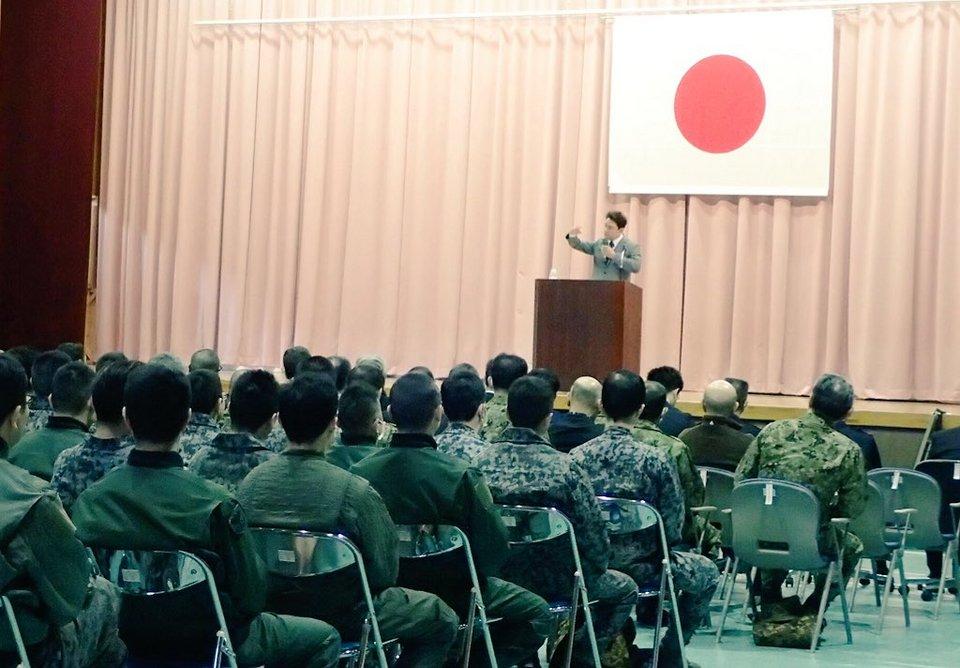 秋田航空自衛隊にて講演