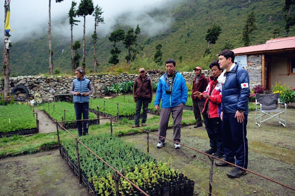 サマ村、植林活動