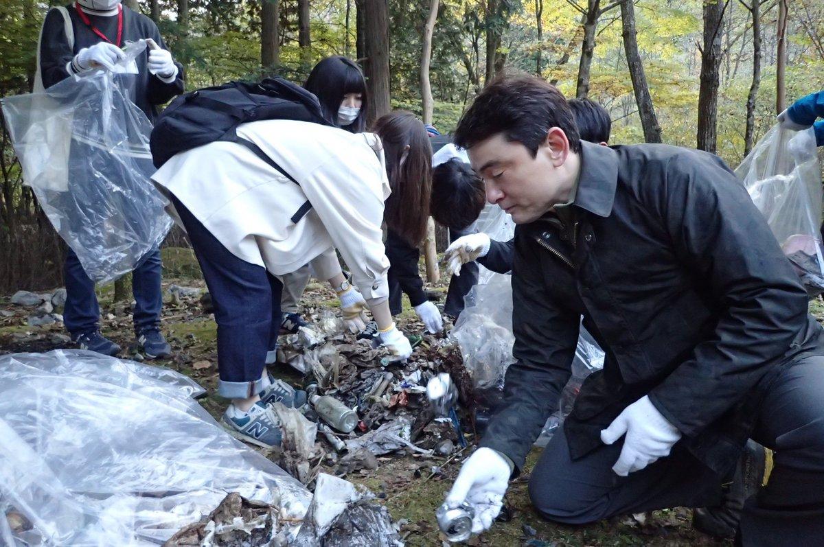 地元大月で清掃活動