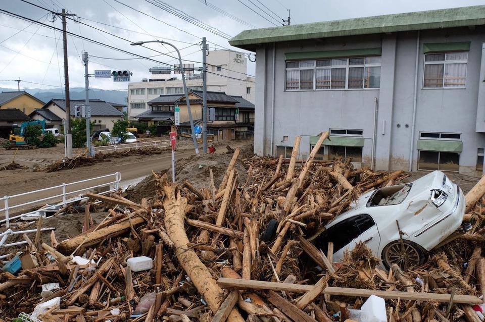 九州豪雨災害 朝倉市内 の様子