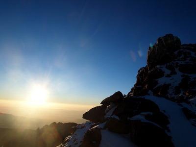 レナナピークの山頂直下
