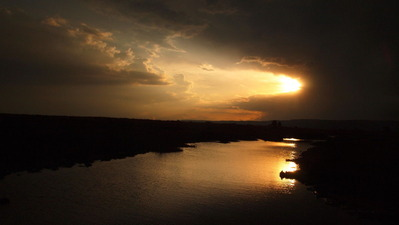 2番目 マサイマラの夕日