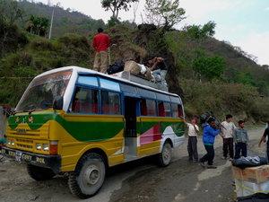 バスを乗り換えようやく到着