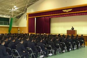 海上自衛隊・小月航空基地にて講演