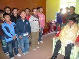 みんなからネパールの国歌斉唱が行われた