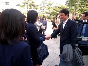広島市の安田女子中学校での講演会にて