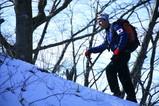 黒岳山頂の手前を登る