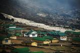 クンデ村の土砂崩れによる傷跡(1)