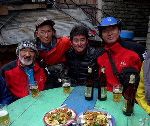 韓国隊と食事会