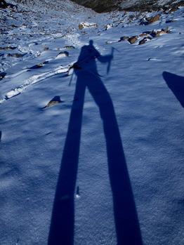 自分の影を撮影。