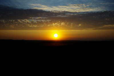 マサイマラの朝日(気球から撮影)
