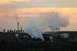 プランテーション内にある工場