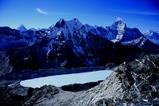 アイランドピーク上部から見えるイムジャ氷河湖