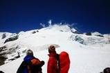 メララから登山ルートを確認