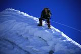 山頂直下の稜線をつめる