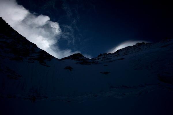 風雪が上がる上部風景