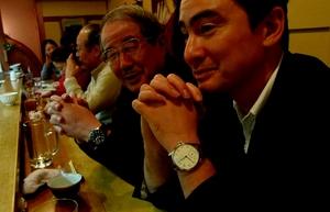京都での講演会では久々に親父との再会!