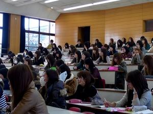 名古屋女子短期大学にて講義