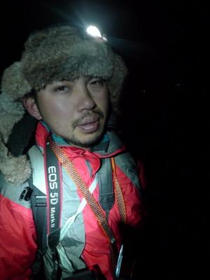 登山しながらの撮影は大変です 撮影野口