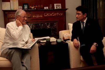 李登輝元総統との会談が始まった