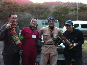 富士山クラブのメンバーと