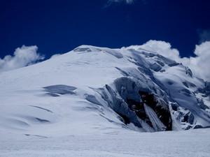 チュルー西峰山頂は遠い 撮影平賀