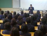 山口県立光丘高等学校での講義中(2)